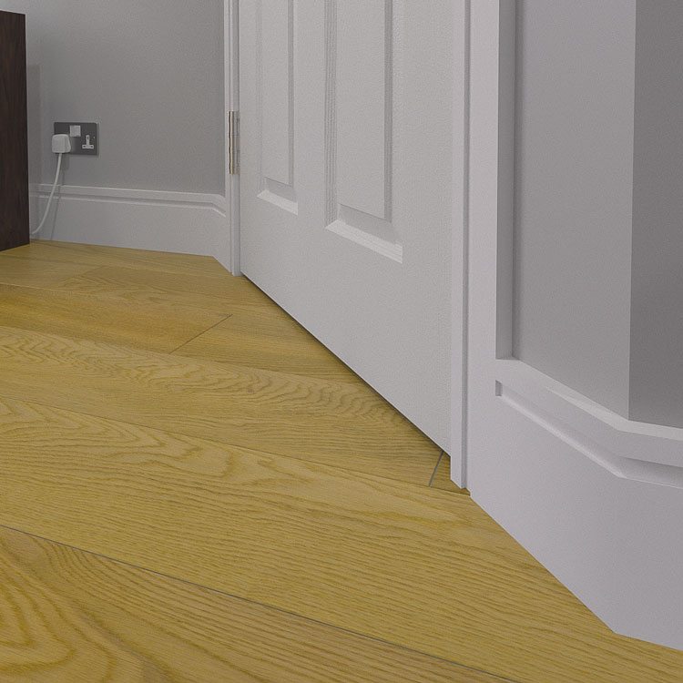 15mm Grooved MDF Skirting Board (Modern Moulding)