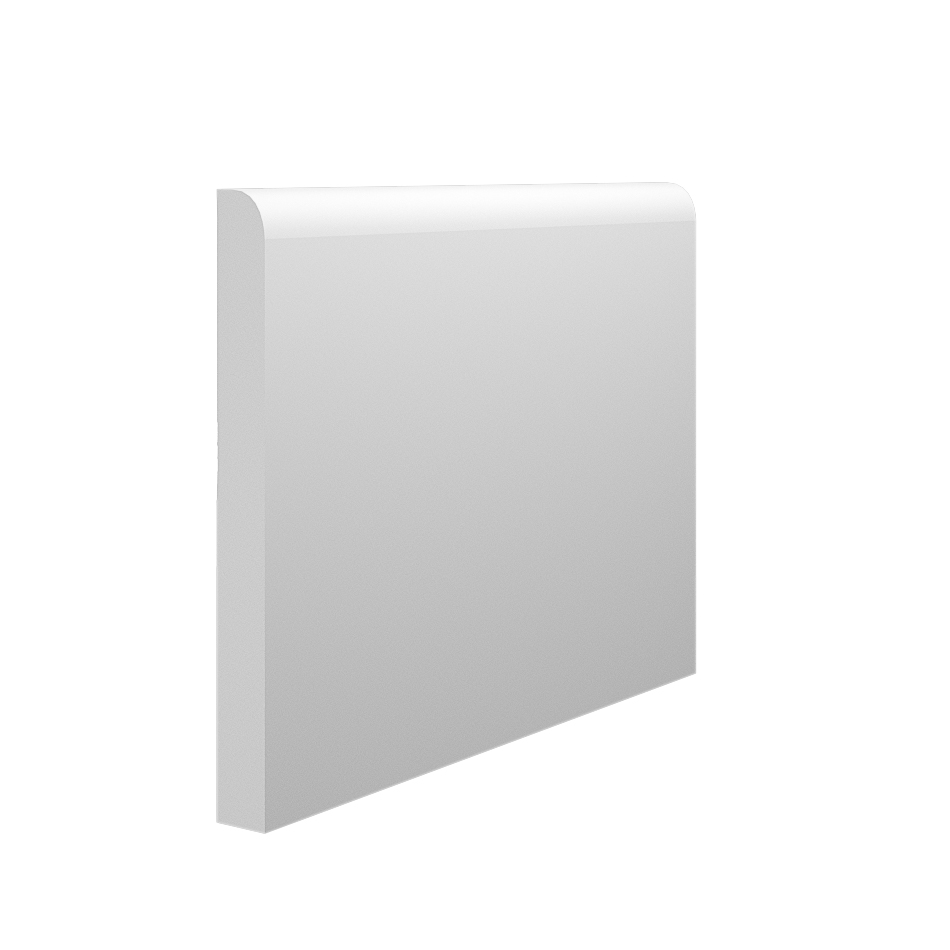 The plain and simple design of our Bullnose MDF Skirting Board (145mm x 15mm pictured)