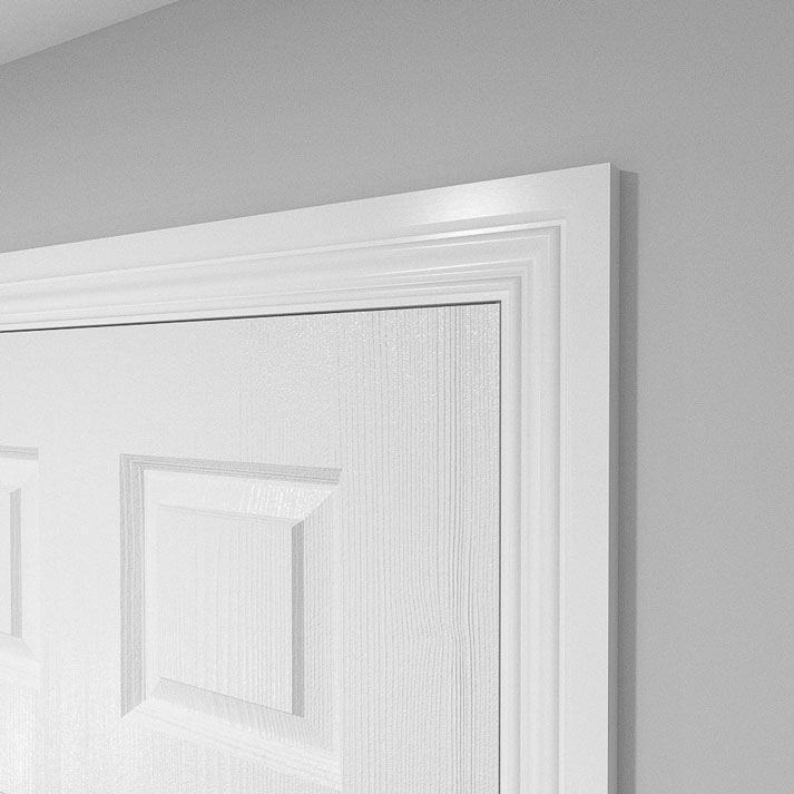 Elegance MDF Architrave in 18mm fitted around a door