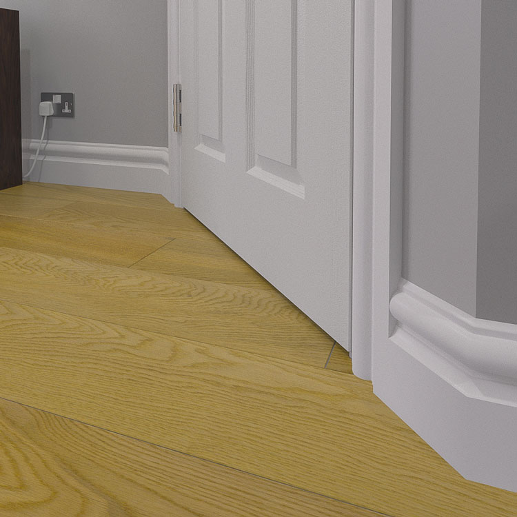 Our Milan MDF Skirting Board Finished In White