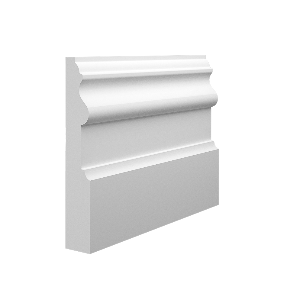 The detailed and large design of our Period MDF Skirting Board (145mm x 25mm pictured)