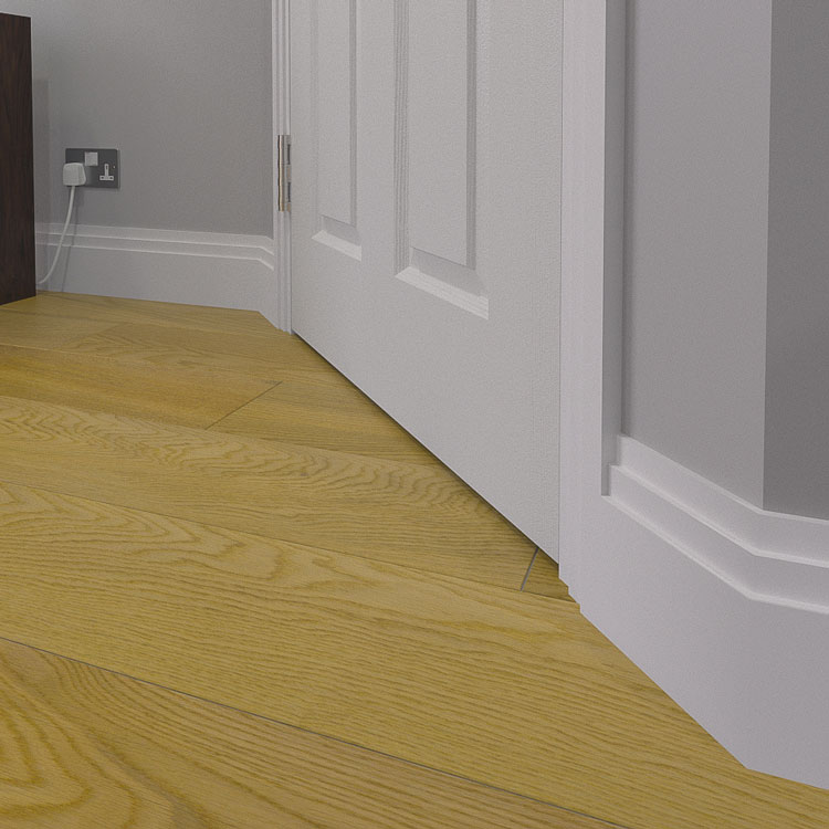 Stepped 2 MDF Skirting Board (Modern Moulding)