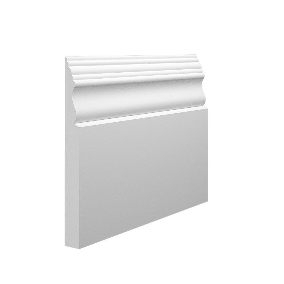 Victorian 2 MDF Skirting Board in 15mm thickness