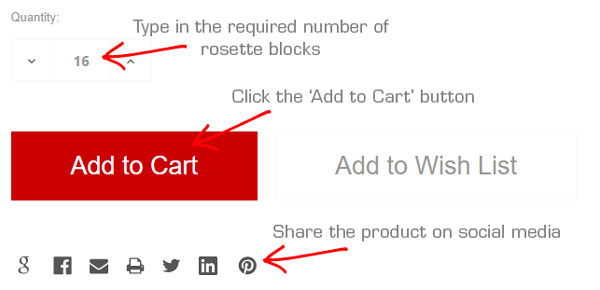 Add Your Rosette Blocks To The Cart