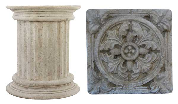 Ancient Plinths And Rosettes
