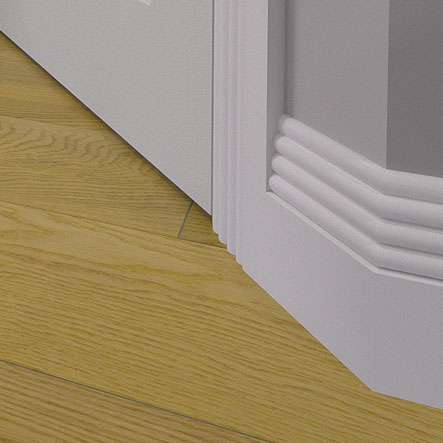 Cloud MDF Skirting Board Fitted