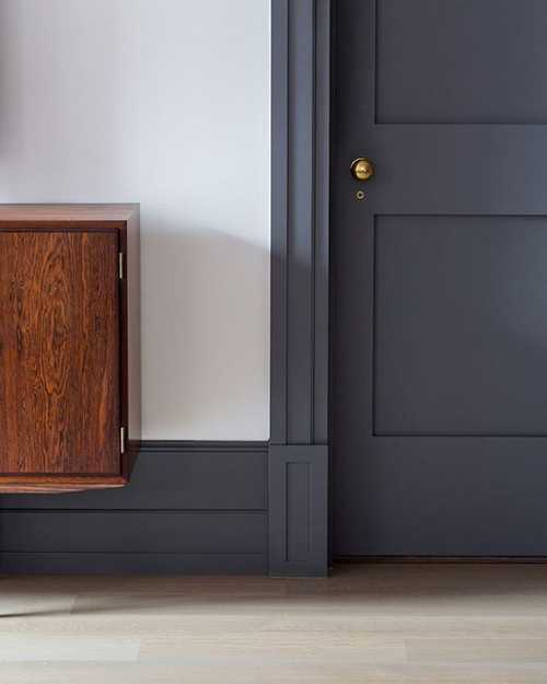 Dark Grey Skirting Boards Contrast Well With Bright White Walls