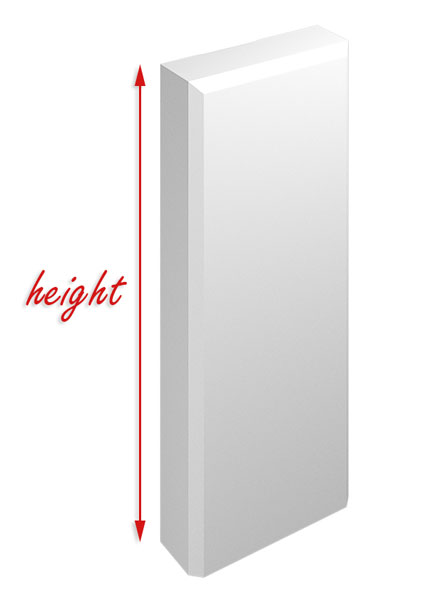 Image Showing What The Height Option Changes On Plinth Blocks