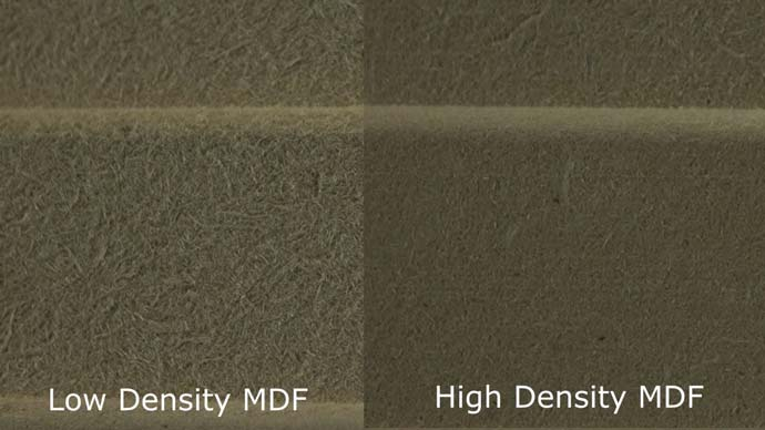 Low Density MDF vs High Density MDF