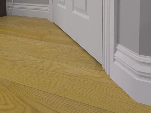 Luxor MDF Skirting Boards used to cover gap between floor and wall