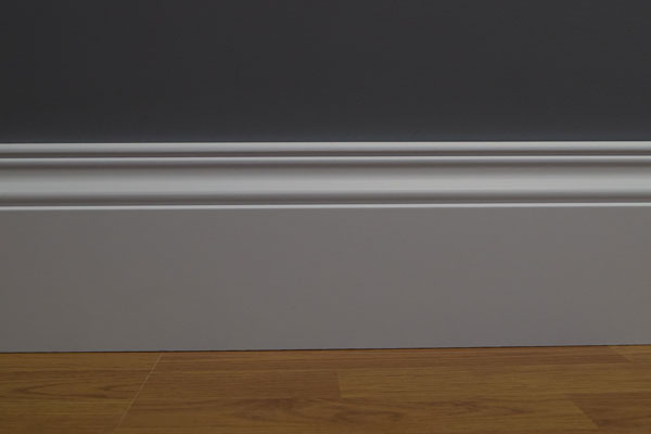 Oscar MDF Skirting Board Fitted To A Flat And Straight Wall