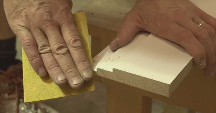 Sanding Skirting Boards Using Sand Paper