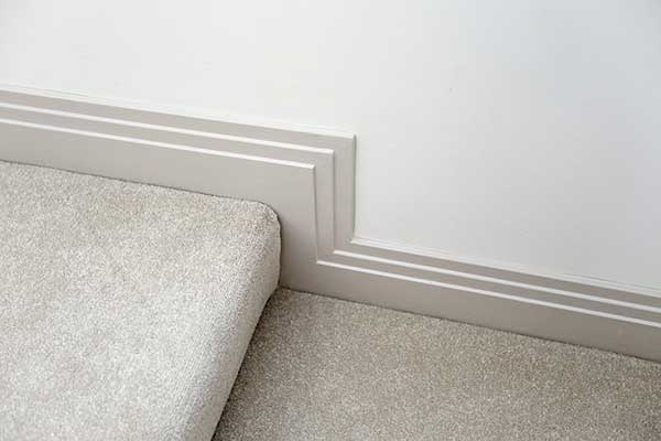 Off White Satin Paint Finish On Skirting Boards