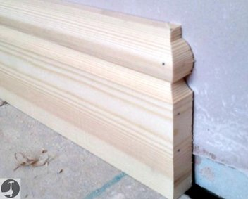 Skirting Board Stop End - Mitred Into Wall