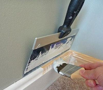 Using A Paint Shield When Painting Skirting Boards